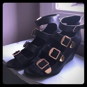 Gorgeous Buckle Up Wedges Cayden
